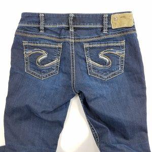 Silver Jeans Suki Skinny Thick Stitch Denim Pants